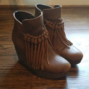 Sbicca wedge booties